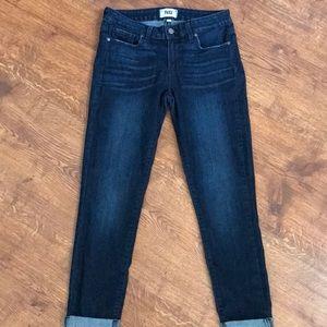 Paige kylie crop tonal Duncan wash jeans